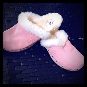 Wool lined UGG clogs